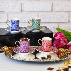Karaca Mesopotamia 4 Renk Kahve Fincan Takımı