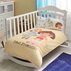 Taç Dora Best Friends Bebek Nevresim Takımı